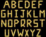 Gold strip alphabet