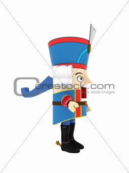 Nutcracker Statuette - Isolated Objects Series - 3D