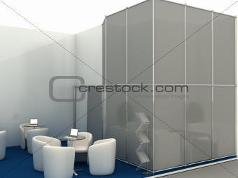 Exhibition Stand Interior Sample  - Computer Art 3D Series