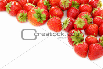 Ripe juicy strawberries.