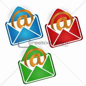 Three envelopes