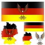 German flag and bird