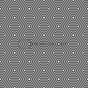 Hexagons texture. Seamless op art pattern.