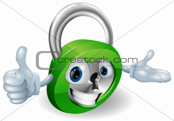 Padlock mascot illustration