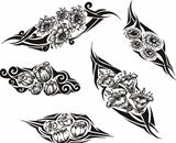 Tribal Flower Tattoos