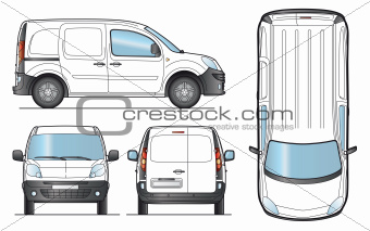 Delivery Van Template - Vector