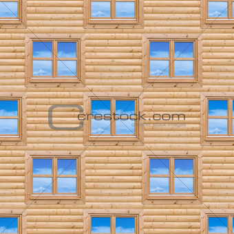 Seamless Wooden Cottage Wall