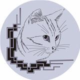 Decorative corner with cat