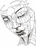 Wireframe Woman Face