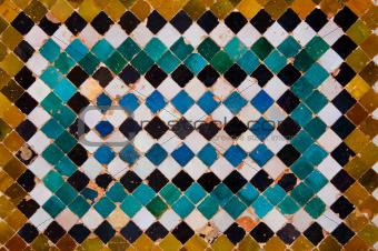 Ceramic tiles of alhambra