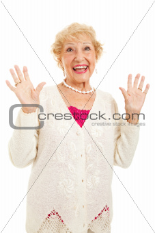 Senior Woman Joyful