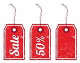 Sale retro price tags