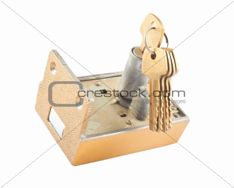 Mortise lock with keys