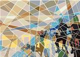 Gymnasium mosaic