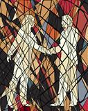 Handshake mosaic