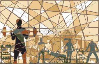 Mosaic gym