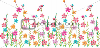 Flower fancy border