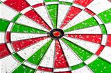 hit red & green bullseye dart board target game