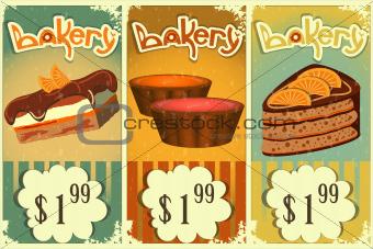 cake price tags Vintage