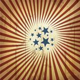 American patriotic retro background. Vector, eps10