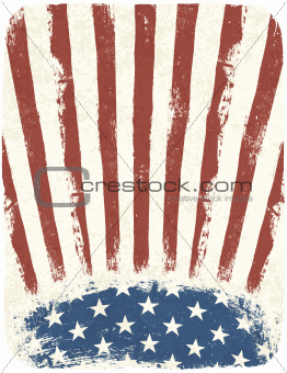 American patriotic poster background. Vintage style poster templ