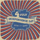 Independence Day Retro Style Abstract Background. Vector illustr
