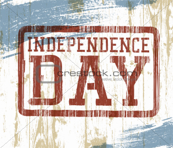Independence day stamp on wooden background. Vector illustration