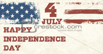 Retro Style Independence Day Design Template. Vector, EPS10