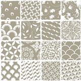 Variety styles seamless patterns set. All patterns available in