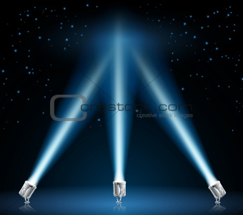 Searchlights or spotlights illustration