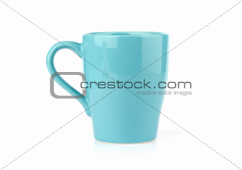 Blue Mug Isolated on White