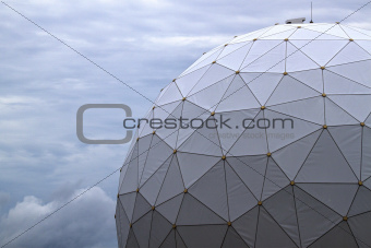 Radome Against a Darkening Sky