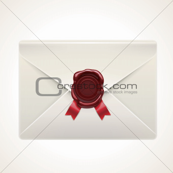 Vector retro envelope icon