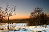38 - sunset and snow at ashton under lyne