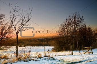 38 - sunset and snow at ashton under lyne