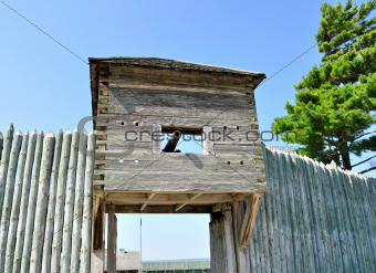 old wooden fort with cannon