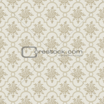 Pastel romantic roses seamless pattern