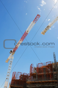 Construction cranes