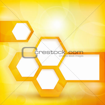 Abstract golden speech bubble background