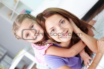 Loving daughter