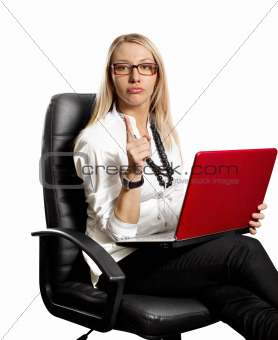 Business Woman In Chair
