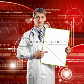 Doctor Man With Write Board