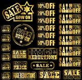 Gold sale rubber stamp