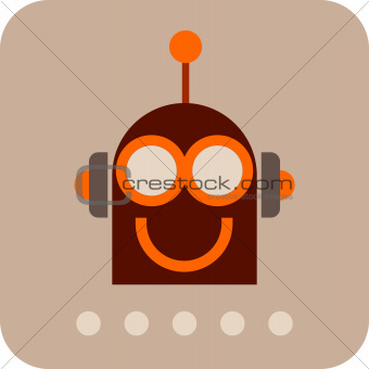 Funny Robot - vector icon