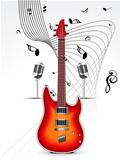 abstract mysical background with guitar