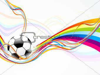 abstract wave background with football