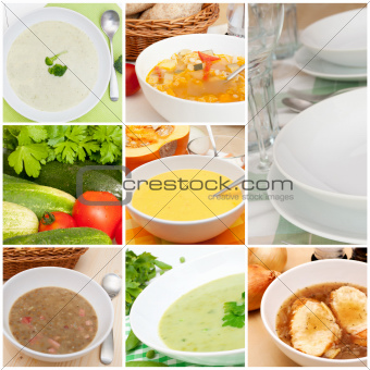 Soups Collage