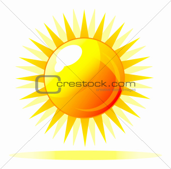 Abstract vector shiny sun icon