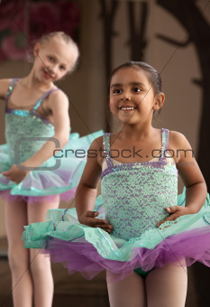 Cute Ballerinas Laughing