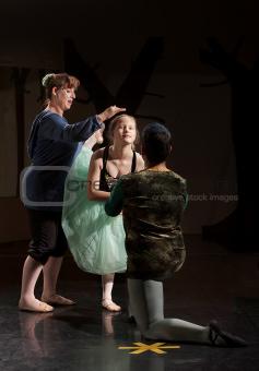 Ballet Dancer Helped by Teacher